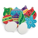S&S Worldwide Color Me Holiday Ornaments, 48/Pack (CF-13937)