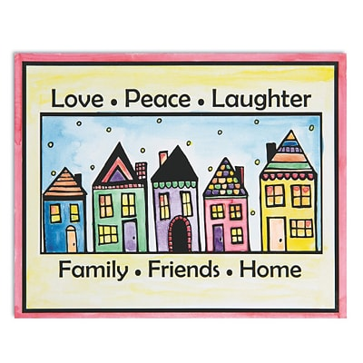 Wing Art Supplies Co Ltd, Easy Way Pictures Love Peace Laughter, (GP3258)