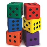 S&S Worldwide, Foam Dice Large 3In Set Of 6, (W11416)