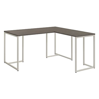 Office by kathy ireland® Method 60W L Shaped Desk with 30W Return, Cocoa (MTH004CO)