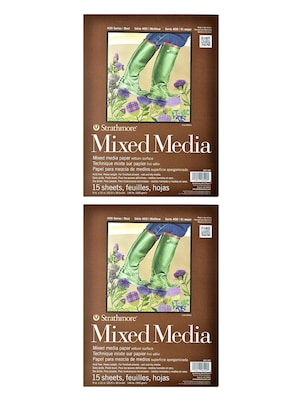 Strathmore 400 Series Mixed Media Pad 9 In. X 12 In. 15 Sheets [pack Of 2](pk2 462 109)