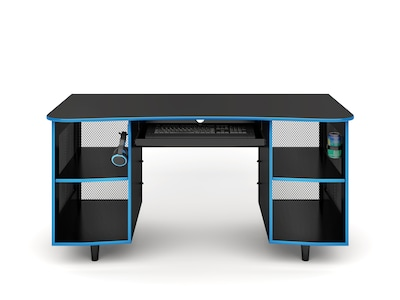 "Whalen Emergent Gaming 60"" Laminate Computer Desk, Black (SPUS-EGDB)"