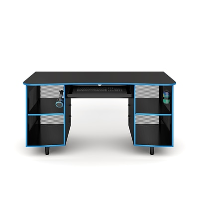 Whalen Emergent Gaming 60 Laminate Computer Desk, Black (SPUS-EGDB)