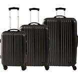 ABS 3 Piece Luggage Set, Black (45165)