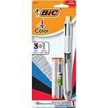 BIC 4 Color Retractable 3+1 Ballpoint Pen and Mechanical Pencil, Medium Point (1.0mm) (MMLP1AST)