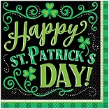 Amscan St. Patricks Day Clover Me Lucky Lunch Napkins, 125/Pack (711906)