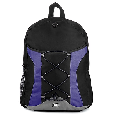 SumacLife Canvas Athletic Laptop Backpack, Blue (NBKLEA413)