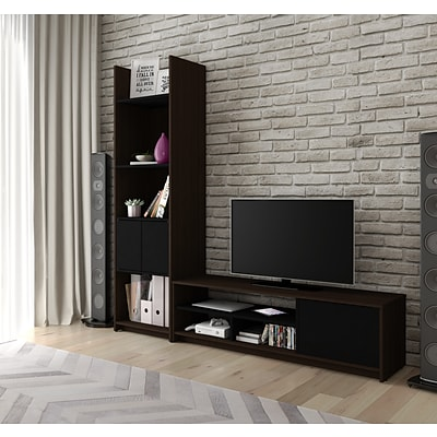 Bestar® Small Space 2-Piece TV Stand and Storage Tower Set (1685279)