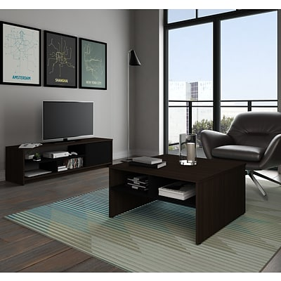 Bestar® Small Space 2-Piece Storage Coffee Table and TV Stand Set (1685179)
