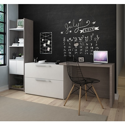2-Piece Sliding Computer Desk and 20 Storage Tower (1685547)