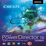 CyberLink PowerDirector 16 Ultimate for 1 User, Windows, Download (PDR-EG00-RPM0-00)