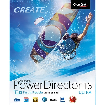 CyberLink PowerDirector 16 Ultra for 1 User, Windows, Download (PDR-0G00-IWU0-00)