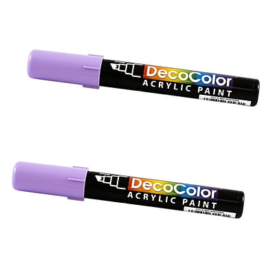 JAM Paper® Chisel Tip Acrylic Paint Markers, Wisteria Purple, 2/Pack (526315WISa)