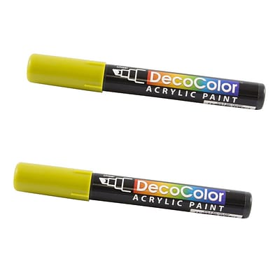 JAM Paper® Chisel Tip Acrylic Paint Markers, Celery Green, 2/Pack (526315CEa)