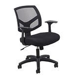 Essentials by OFM ESS-3030 Mesh Task Chair Fixed Arms, Black (ESS-3030)