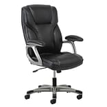 Essentials by OFM Fabric Computer and Desk Office Chair, Fixed Arms, Black (ESS-6030-BLK)