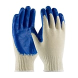 PIP Seamless Knit Work Gloves, Cotton/Polyester Latex Coating, Large, 12/Pr