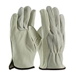 PIP Drivers Gloves, Regular Grade,  Top Grain Cowhide, Large, Gray, 1/Pr