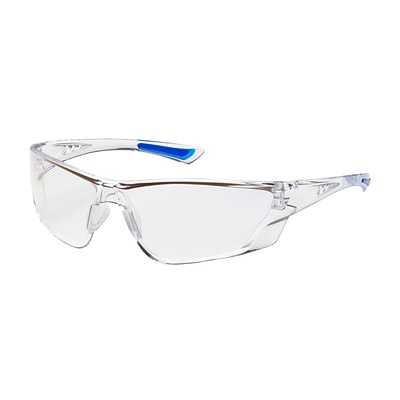 Bullseye™ Rimless Safety Glasses with Gray Temple, Gray Lens and Anti-Scratch / FogLess™ Coating