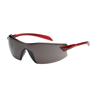 Tranzmission™ Rimless Safety Glasses with Black Temple, Gray Lens and Anti-Scratch Coating