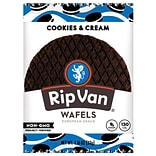 Rip Van Wafels® Non-GMO European Snack, Cookies and Cream, 12/Pack (RVW00388)