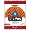 Rip Van Wafels® Non-GMO European Snack, Strawberry, 12/Pack (RVW00383)