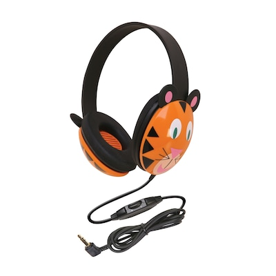 Califone Listening First Animal themed Stereo Headphones, Tiger (CAF2810TI)