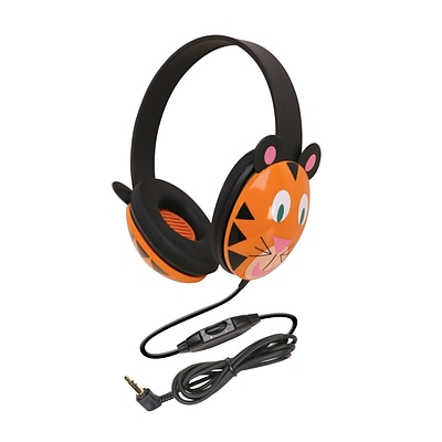 Califone Listening First Animal-themed Stereo Headphones, Tiger (CAF2810TI)