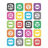 Teacher Created Resources Chevron Stickers, Assorted Colors, Approx 1 each, 120 count (TCR5532)