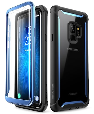 i-Blason Samsung Galaxy S9 Case, Ares Full-body Rugged Clear Bumper Case Without Built-in Screen Protector, Blue