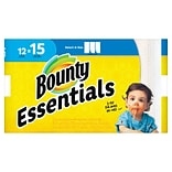 Bounty Essentials Select-A-Size™ Paper Towels, 2-Ply, White, 78 Sheets/Roll, 12 Large Rolls/Pack (75