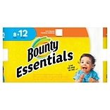 Bounty Essentials Full Sheet Paper Towels, 2-Ply, White, 60 Sheets/Roll, 8 Giant Rolls/Carton (74680