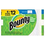 Bounty® Select-A-Size™ Paper Towels, White, 2-Ply, 110 Sheets/Roll, 6 Double Rolls = 12 Regular Roll