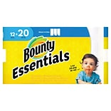 Bounty Essentials Select-A-Size™ Paper Towels, 2-Ply, White, 104 Sheets/Roll, 12 Mega Rolls/Pack (74