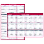 AT-A-GLANCE® Vertical/Horizontal Erasable Wall Calendar, 12 Months, January Start, Reversible, 48 x