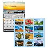 AT-A-GLANCE® Scenic Wall Calendar, 12 Months, January Start, 12 x 17, White (DMW200-28-19)