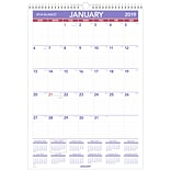 AT-A-GLANCE® Erasable Monthly Wall Calendar, 12 Months, January Start, 12 x 17, Wirebound (PMLM02-