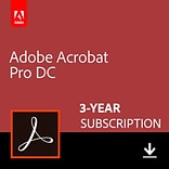 Adobe Acrobat Professional DC 3 Year for 1 User, Windows/Mac, Download (65290615)