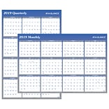 2019 AT-A-GLANCE® Vertical/Horizontal Erasable Wall Planner, Reversible, 12 Months, January Start, 3