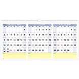 2019 AT-A-GLANCE® QuickNotes® 3-Month Horizontal Wall Calendar, 15 Months, December Start, 23 1/2 x