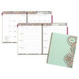 2019 Cambridge® Marrakesh Weekly/Monthly Planner, 12 Months, January Start, 8 1/2 x 11, Light Gree