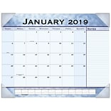 2019 AT-A-GLANCE® Slate Blue Monthly Desk Pad, 12 Months, January Start,  21 3/4 x 17 (89701-19)