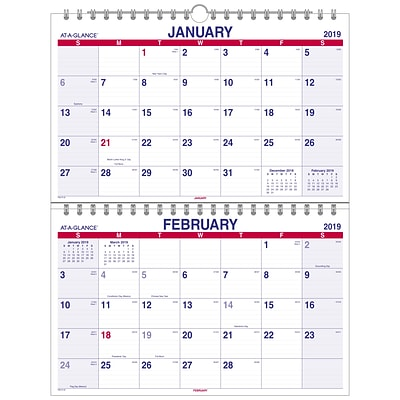2019 AT-A-GLANCE® Move-A-Page Two Month Wall Calendar, 12 Months,  January Start, 22 x 28 1/2, Wirebound (PMLF9-28-19)