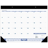 2019 AT-A-GLANCE® Monthly Desk Pad, 12 Months, January Start, 21 3/4 x 17, Blue/Gray (SW200-00-19)
