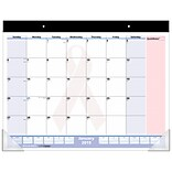 2019 AT-A-GLANCE® QuickNotes® City of Hope Desk Pad, Pink Ribbon Design, 13 Months, Ruled Blocks, 21