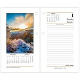 2019 AT-A-GLANCE® Daily Photographic Loose-Leaf Desk Calendar Refill, 12 Months, January Start, 3 1/