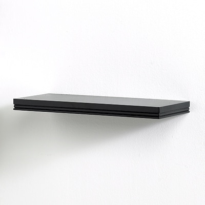 Inplace Warwick 18Wide Single Wall Shelf, Black (0191409)
