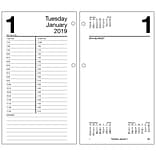 2019 AT-A-GLANCE® Daily Loose-Leaf Desk Calendar Refill, 12 Months, January Start, 4 1/2 x 8 (E210