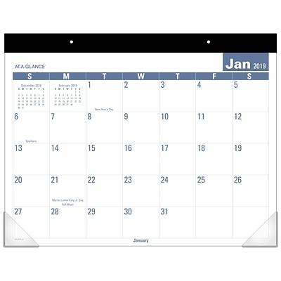 2019 AT-A-GLANCE® Easy to Read Desk Pad, 12 Months, January Start, 21 3/4 x 17 (SKLP24-32-19)