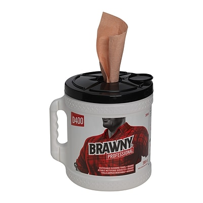 GP Brawny® Professional D400 Disposable Cleaning Towel, Bucket, Oatmeal, EA